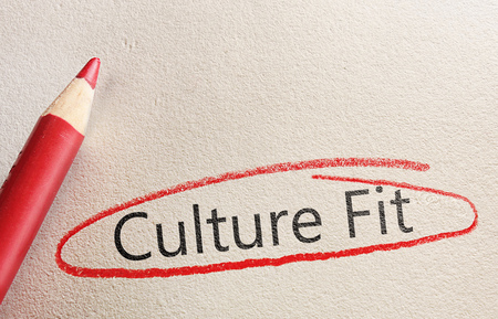 Culture Fit text circled in red pencil -- Employment and hiring concept