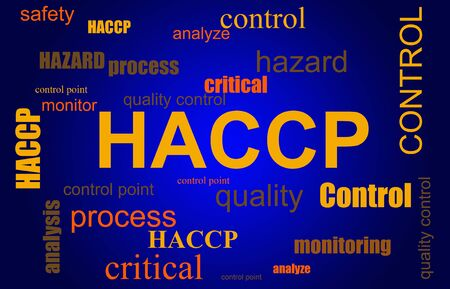 HACCP ( Hazard Analysis and Critical Control Points ) food safety process word cloud illustration