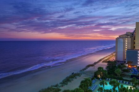 Sunset view of Myrtle Beach South Carolina