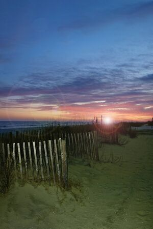 Colorful beach sunset in Myrtle Beach South Carolina