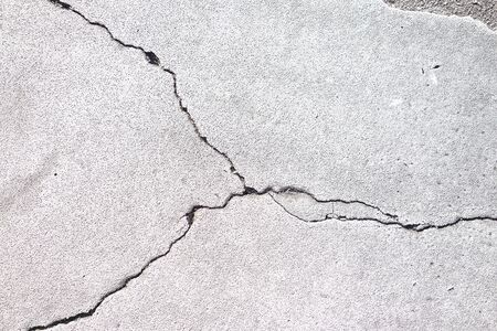 Cracks in a cement or conrete building foundation