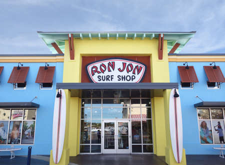 Myrtle Beach,SC/USA - 1-09-2020: Ron Jon Surf Shop at Broadway at the Beach, a popular tourist destination in Myrtle Beach South Carolina