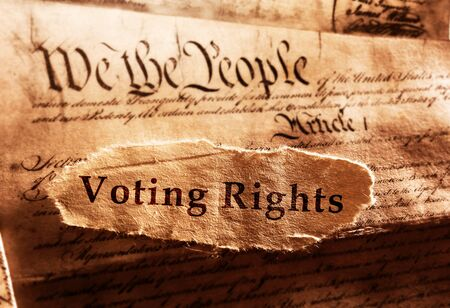 Voting Rights text on United States Constitution                                免版税图像