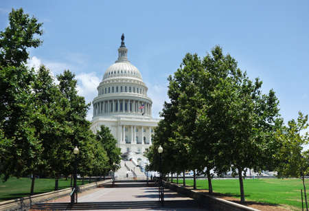 View of the United States Capitol building and walkway in Washington DC