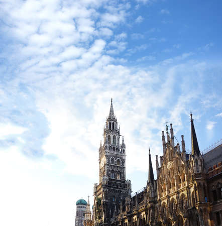 Rathaus , the Munich Town Hall - in Marienplatz, one the city's main squares