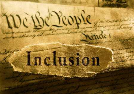 Inclusion message on We The People text of the United States Constitution