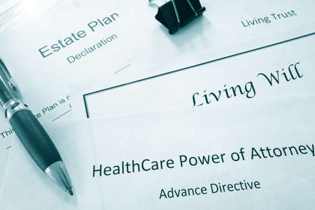 Estate planning documents : Healthcare Power of Attorney, Living Trust, Living Wil and Estate Planl