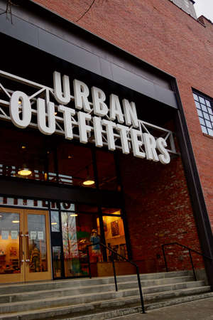 RALEIGH,NC/USA - 03-27-2021: The entrance to an Urban Outfitters retail store in downtown Raleigh, NC