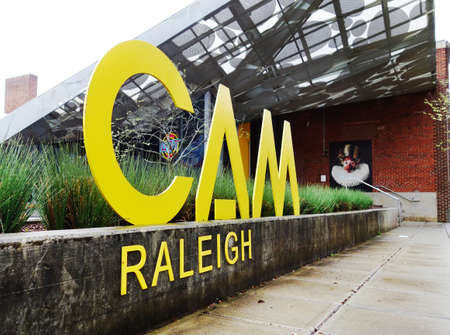 RALEIGH,NC - USA - 03-27-2021: The Contemporary Art Museum ( CAM ) in downtown Raleigh NC Warehouse District