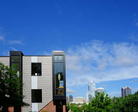 New luxury condos with view of the downtown Raleigh NC skyline