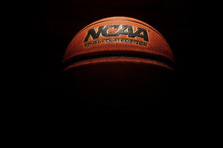 Wilmington,NC - USA - 05-07-2021: An NCAA Final Four Edition basketball on dark background Sajtókép