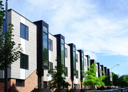 New modernist townhouses in downtown Raleigh NC
