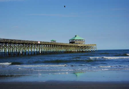 Folly Beach Pier near Charleston South Carolina