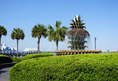 The Pineapple Fountain in scenic Waterfront Park, Charleston South Carolina
