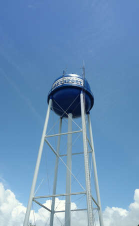 The water tower in downtown Southport North Carolina