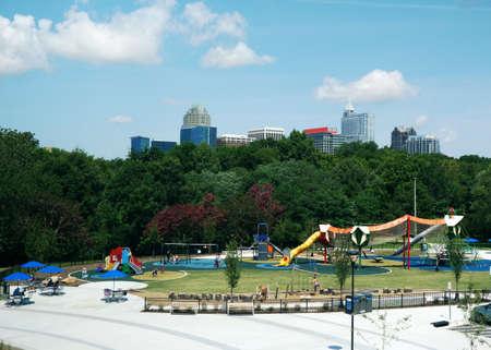 Playground at John Chavis Memorial Park near downtown Raleigh North Carolina