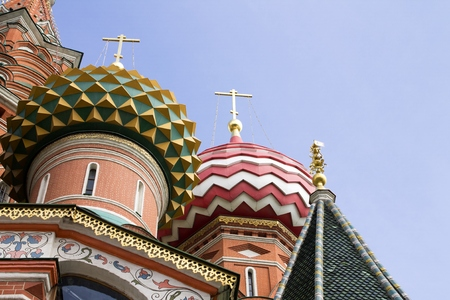basils: St Basils cathedral on Red Square in Moscow Russia