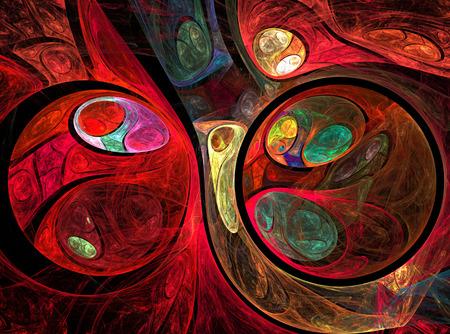 fractal background: Abstract fractal red balls, background, computer-generated image, digital artwork for creative graphic design