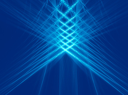 grids: Abstract fractal blue checkered background, computer-generated image with copy space for logo, design concepts, web, prints, posters. Stock Photo