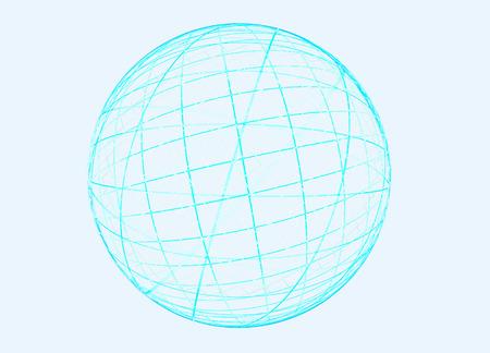 revolve: Abstract fractal blue globe on ligcht background for logo, design concepts, web, prints, posters.