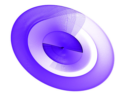 continuum: Purple abstract fractal shape with white background, computer-generated image for logo, design concepts, web, prints, posters. On the subject of education, science and technology