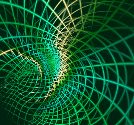 continuum: Abstract fractal green background, computer-generated image Stock Photo