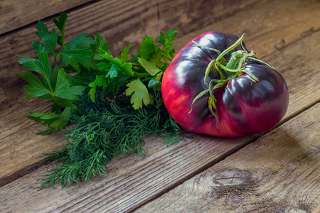 Tomato breed Amethyst jewel with fragrant herb