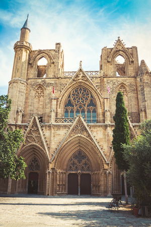 Lala Mustafa Pasha Mosque. Famagusta, North Cyprus. Stock Photo