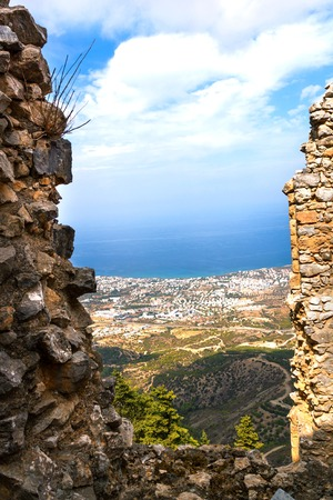View of Kyrenia from Ruins of Saint Hilarion Castle