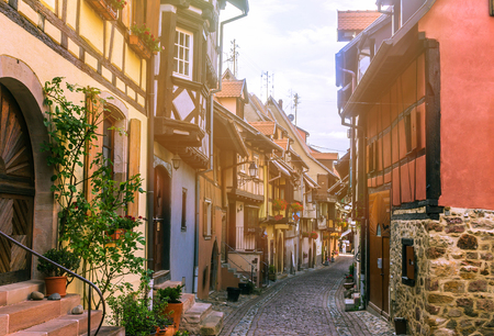 Beautiful view of medieval old town in Europe