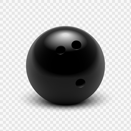 isolated background objects: illustration bowling ball. Isolated on a transparent background. Illustration