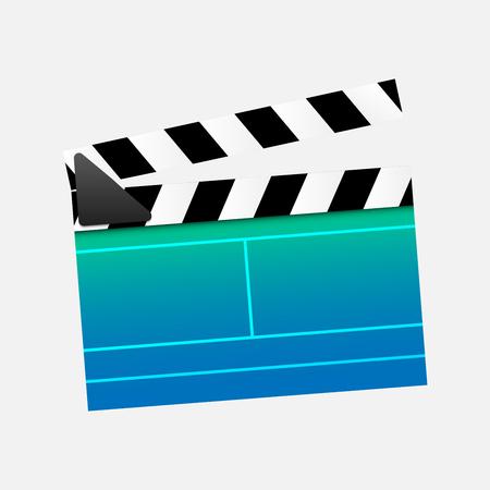 clapperboard: illustration clapperboard cinema.