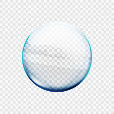 Stock vector illustration glass transparent sphere. Ball isolated on a transparent background. Stock Photo