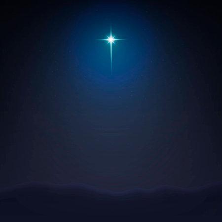 Illustration vectorielle stock fond minimaliste Bethlehem Star. La naissance de Jésus-Christ. EPS 10 Vecteurs