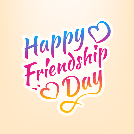 Stock vector illustration Happy Friendship Day. Calligraphic inscriptions. EPS10 Иллюстрация
