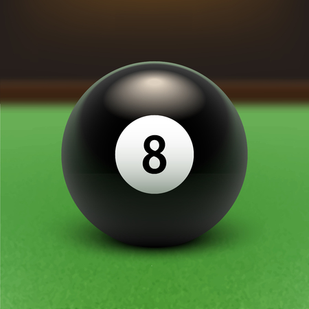 Vector illustration billiards. Eight Ball. EPS 10 Stock Illustratie