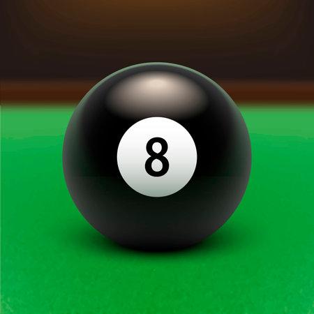 Vektorillustration Billard. Acht Ball. EPS 10