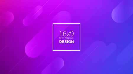 Futuristic design purple background. Templates for placards, banners, flyers, presentations and reports. Minimal geometric, dynamic shapes composition, motion design, geometric style flat EPS10 免版税图像
