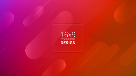 Futuristic design red background. Templates for placards, banners, flyers, presentations and reports. Minimal geometric, dynamic shapes composition, motion design, geometric style flat EPS10