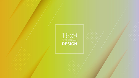 Futuristic design yellow background. Templates for placards, banners, flyers, presentations and reports. Minimal geometric, dynamic shapes composition, motion design, geometric style flat EPS10