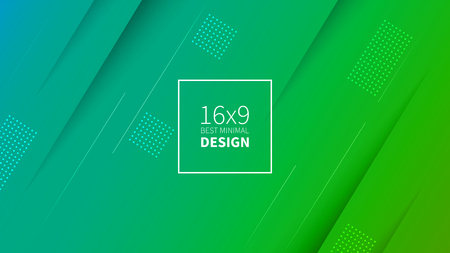 Futuristic design green and blue background. Templates for placards, banners, flyers, presentations and reports. Minimal geometric, dynamic shapes composition, motion design, geometric style flat EPS10 矢量图像