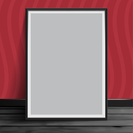 Stock vector illustration mockup mock up realistic picture template photoframes. Blank paper gray. Art for banners, placards and posters EPS10 矢量图像