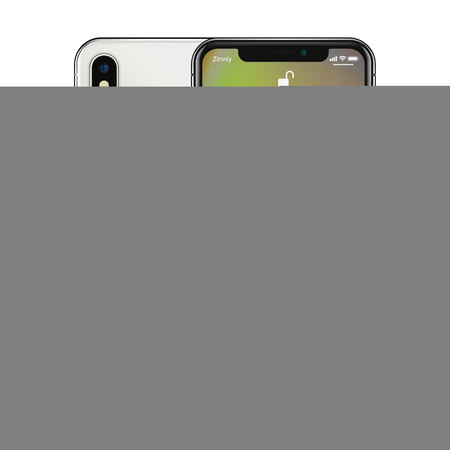 New York, USA - August 22, 2018: Stock vector illustration realistic new Apple iPhone X 10. Frameless full screen mockup mock-up smartphone isolated on white background iOS 12 免版税图像