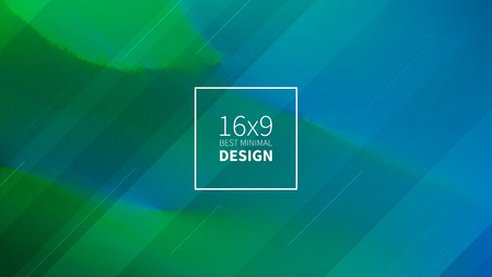 Futuristic design green and blue background. 免版税图像
