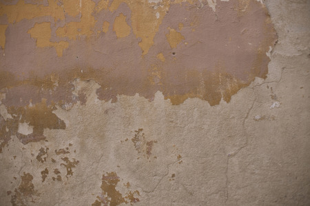 textured wall: Textured street wall in Arezzo, Italy Stock Photo