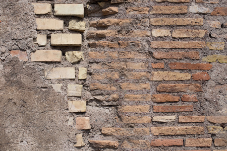 spot the difference: old textured background from bricks Stock Photo