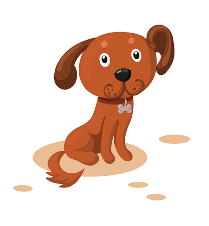 Cartoon dog isolated on white background Illustration