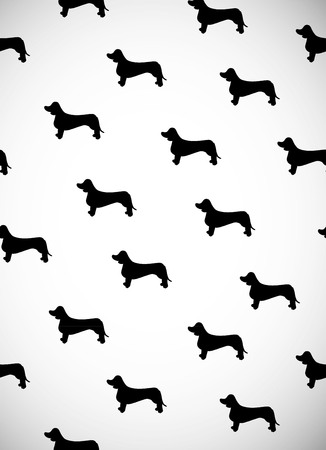 Greeting card with black silhouettes of dog breed dachshund greeting card with black silhouettes of dog breed dachshund can be used for wallpaper m4hsunfo