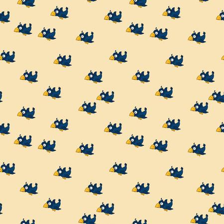 Modèle sans couture mignon avec des corbeaux de dessin animé. Bon pour le textile, tissu, linge de lit, chambre enfantine, pyjamas, motifs de remplissage, papier d'emballage, scrapbooking, découpage, artisanat. Banque d'images - 85308772