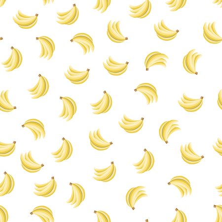 Seamless pattern with bananas on wthite background. Can be used for wallpaper, pattern fills, greeting cards, webpage backgrounds, wrapping paper, scrap booking and textile or fabric.